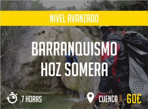 Barranquismo Hoz Somera Cuenca Nivel Avanzado Paradise Events