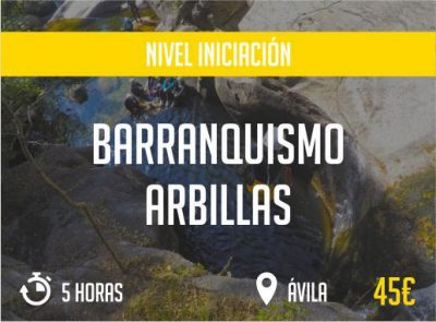 Barranquismo Arbilla Avila Nivel Iniciacion Paradise Events