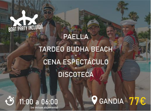 Pack 2 Paradise Events Despedida de Soltera y Soltero Boat Party Playa Gandia 3