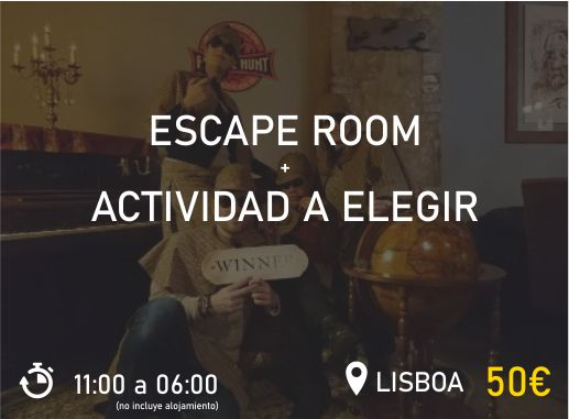 Escape Room Lisboa Pack 1 Despedida de Soltera y Soltero Paradise Events
