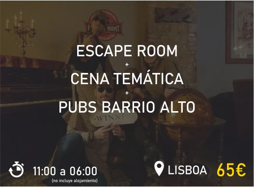 Escape Room Lisboa Pack 2 Despedida de Soltera y Soltero Paradise Events