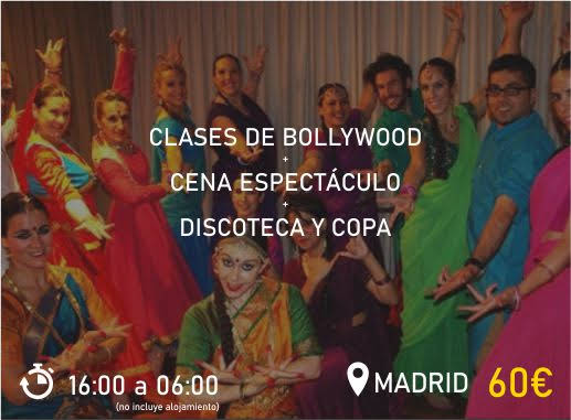 Pack 2 Clases Bollywood en Madrid Despedida de Soltera y Soltero Paradise Events