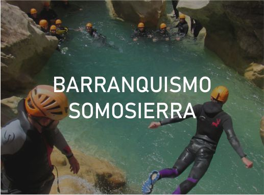 Pack de Actividades en Somosierra en Madrid Barranquismo Despedida Soltera y Soltero Paradise Events