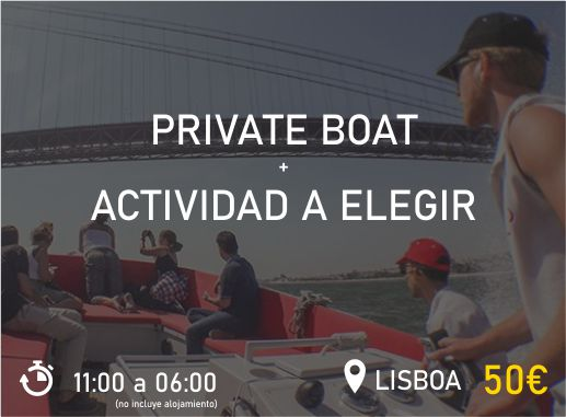 Private Boat Lisboa Pack 1 Despedida de Soltera y Soltero Paradise Events
