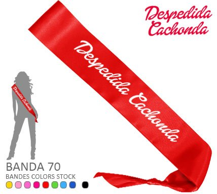 Banda Despedida Soltera Cachonda Roja Paradise Events