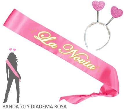 Banda La Novia y Diadema Despedida Soltera Rosa Paradise Events 1