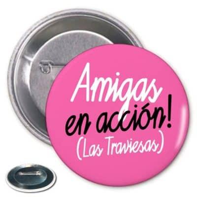 Chapa Amigas a la Accion Despedida Soltera Rosa Paradise Events